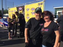 KB Racing's Jeff Guenther with wife Cindy